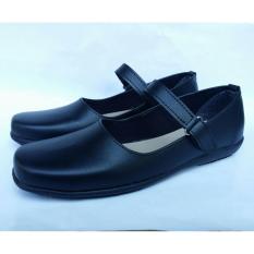 Sepatu Sekolah Flat Formal Paskibra Wanita Hitam