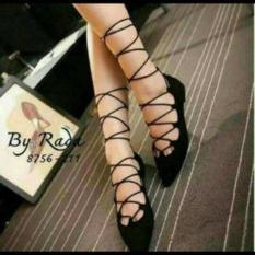 Sepatu Wanita Flat Shoes Tali Ballerina BL71
