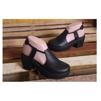 Sepatu Wanita Heels Tutong- Black
