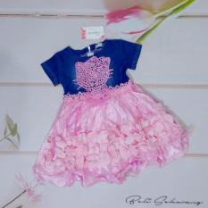 Setelan gaun baju anak perempuan /cewek model pesta, baju dan rok (cocok untuk lebaran) - Pink