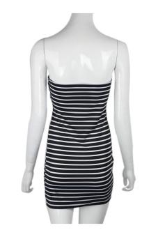 e5725e44388 Harga Sexy Stripe Tee Dress Tube Top Dress Underwear Clothes (Black ...