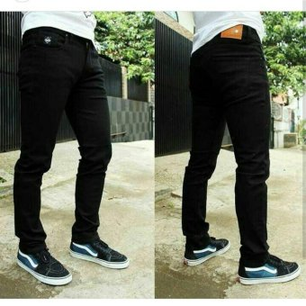 SFO Celana (Hitam) skinny Jeans Pria Slimfit Melar