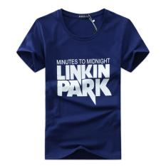 Shopaholic Kaos Katun Pria Linkin Park O Neck Size S / T-Shirt - Blue