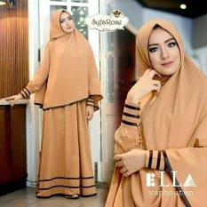 Shoppaholic Shop Baju Muslim Syari Najwa - Coklat Susu