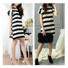 Shoppaholic Shop Dress Wanita Elisa Salur