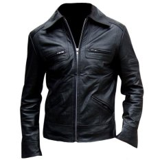 Sidnanes Men Leather Jacket Formal - Hitam
