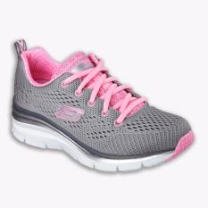 Skechers Fashion Fit Statement Piece Women's Running Shoes - Abu-abu