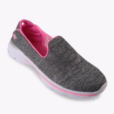 Skechers GOwalk 3 Reboot Girls' Sneakers - Abu-abu