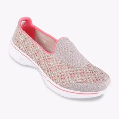 Skechers GOwalk 4 - Kindle Women's Lifestyle Shoes - Taupe-Coral