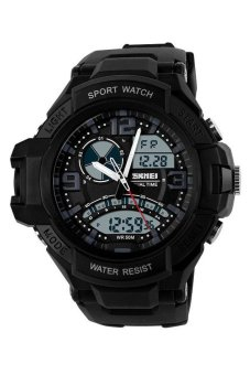 SKMEI Casio Men Sport LED Watch Water Resistant 50m - Jam Tangan Pria - Hitam -