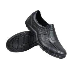Skytop Sepatu Kerja Pantofel Karet Sepatu Formal Pria - Hitam