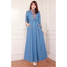 ... Sb Collection Maxi Dress Ariela Overall Gamis Songket Cream Source Songket Maxi Gamis Dress Panjang Jeans