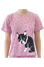 Sook Woman T-Shirt (Print Anjing) - Pink