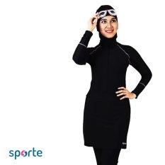 SPORTE Baju Renang Muslim Slimfit SM 30 All Black