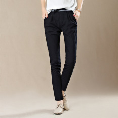 Spring Autumn Leisure Pants Fashion Women Cotton Linen Trousers Female Lady Haren Pants - Intl