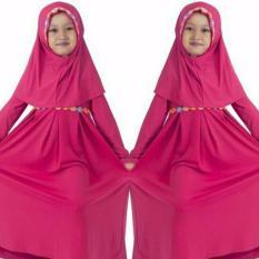 SR Collection Hijab Anak Falina Kombinasi Renda - Pink Fanta