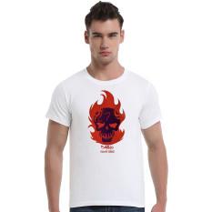 Suicide Squad Diablo Cotton Soft Men Short T-Shirt (White)