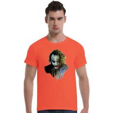 Suicide Squad Joker Art Face Cotton Soft Men Short T-Shirt (Orange)