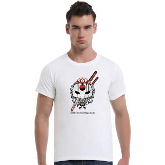 Suicide Squad Katana Cherry Blossoms Cotton Soft Men Short T-Shirt (White)
