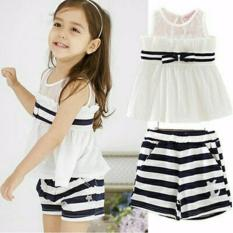 Suki Blouse Celana Anak 2in1 Jane - White