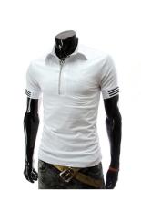 Summer Fashion Men Letter Printing T-shirt (White) (Intl)