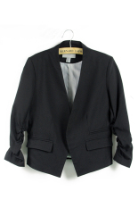 Sunweb Women OL Style Candy Color Thin Suit Outerwear 3/4 Sleeve Coat Casual Blazer Black (Intl)