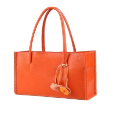 Sunweb Women's Fashion Handbag Shoulder Bag Tote Satchel Bag With Flower Tassel (Orange) - Intl