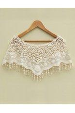 Sunwonder Mesh Hollow Crochet Lace Knit Shawl Cape