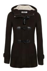 SuperCart Angvns Stylish Ladies Women Casual Long Sleeve Hoodie Hip Length Solid Winter Warm Pockets Coat Outwear (Dark Brown) (Intl)