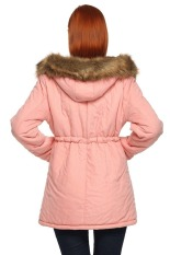 SuperCart ANGVNS Women Winter Thicken Warm Hooded Packable Down Jacket Coat (Pink) (Intl)