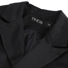 SuperCart Finejo Fashion Women Lady Long Sleeve Lapel One Button Casual Solid Coat Jacket (Black) (Intl)