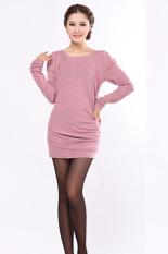 SuperCart Korea Fashion Women's Spring Autumn Long Sleeve T-shirt Shirt Tops (Pink)