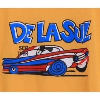 SuperCart Ladies Women O-neck Short Sleeve Slim Print Casual T-shirt (Yellow)