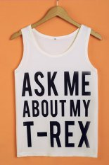 SuperCart Letter Print Women's Sleeveless Casual T-shirt Loose Summer Tank Top (Type 4) (Intl)