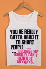 SuperCart Letter Print Women's Sleeveless Casual T-shirt Loose Summer Tank Top (Type 5)