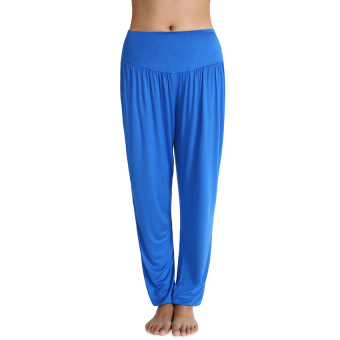 SuperCart Sports Women Casual Sports Leisure Yoga Bloomers Harem Pants Solid Slacks Long Loose Trousers (Blue) (Intl) - Intl