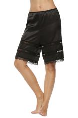 SuperCart Women Satin Fabric Laciness Pants (Black) (Intl)