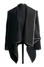 SuperCart Women Winter Woolen Overcoat Fashion Trench Woolen Coat (Black) (Intl)