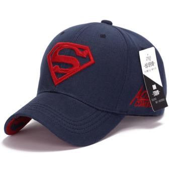 Superman Baseball Cap Hats for Men Women Adjustable S Letter Casual Outdoor Snapback Hat(red&dark blue) (Int: One size)