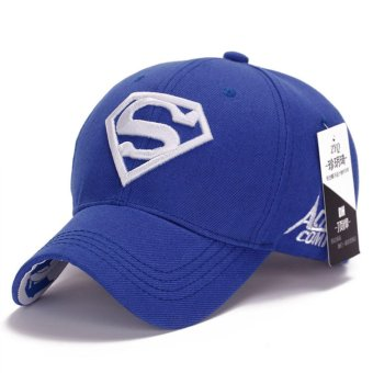 Superman Baseball Cap Hats for Men Women Adjustable S Letter CasualOutdoor Snapback Hat(white&blue) (Int: One size)