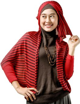 Supernova House Bat Cardigan - Merah&Coklat