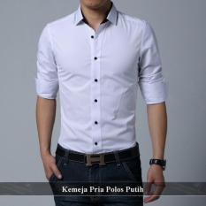 Supplier Kemeja Murah - Baju Online Keren - Kemeja Pria Polos Putih Whitney