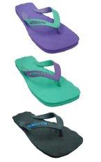 Swallow Sandal SPECTRUM Karet Alami - Bundle 3 Pasang Violet-Hijau-Hitam