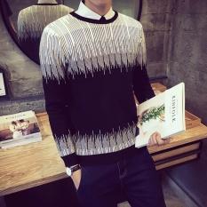 Sweater Rajut Pria -Zia Black Tribal - Rajut Tebal
