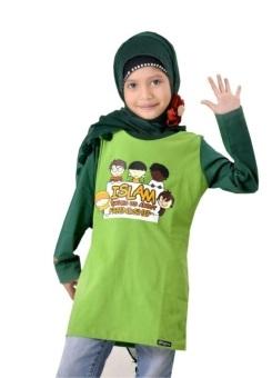 Syamsakids Baju Muslim Anak Sl020 Hijau Lazada Indonesia