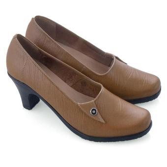 Syaqinah Kulit Sepatu Wanita - Tan