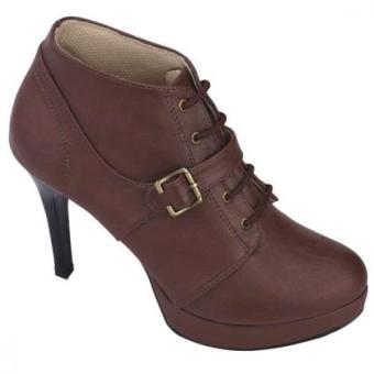 Syaqinah Sepatu Heels Wanita - Cokelat