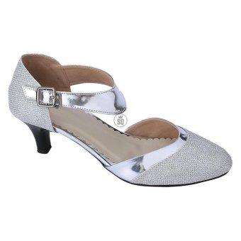 Syaqinah Sepatu Heels Wanita - Silver