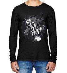 Sz Graphics Hip Hop T-Shirt Long Sleeve Pria Kaos Lengan Panjang Pria Kaos Pria T Shirt Pria T Shirt Fashion-Hitam