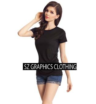 Sz Graphics Kaos Polos Wanita - Hitam